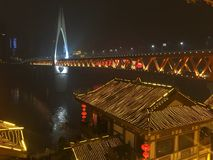 Visión en la ciudad de Chongqing Imágenes de archivo libres de regalías