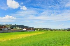 Visión en la ciudad de Einsiedeln en otoño Foto de archivo libre de regalías