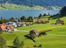 Visión en la ciudad de Einsiedeln, Suiza Imagen de archivo libre de regalías