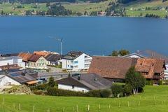Visión en la ciudad de Einsiedeln, Suiza Fotos de archivo libres de regalías