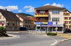 Visión en la ciudad de Einsiedeln, Suiza Imagen de archivo