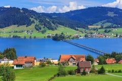 Visión en la ciudad de Einsiedeln, Suiza Foto de archivo