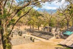 Visión en la corte del oeste de Copan en Honduras imagen de archivo