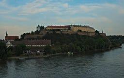 Visión en la fortaleza de Petrovaradin en Novi Sad, Serbia foto de archivo libre de regalías