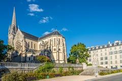Visión en la iglesia de San Martín en Pau - Francia imagen de archivo libre de regalías