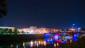 Visión en la noche Vilna, Lituania, time lapse metrajes