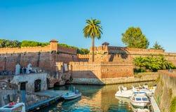 Visión en la nueva fortaleza en Livorno Imagen de archivo libre de regalías