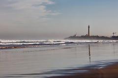 Visión en la playa de Océano Atlántico imagen de archivo