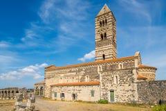 Visión en la trinidad santa de la basílica de Saccargia Fotografía de archivo libre de regalías