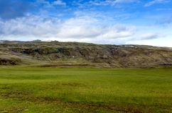 Visión en los llanos islandeses durante verano Fotos de archivo