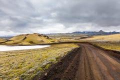 Visión en los llanos islandeses durante verano Fotos de archivo libres de regalías