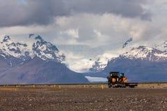 Visión en los llanos islandeses durante verano Foto de archivo libre de regalías