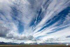 Visión en los llanos islandeses durante verano Imagen de archivo libre de regalías