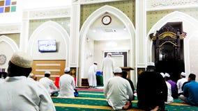 Visión en mezquita musulmán imagenes de archivo
