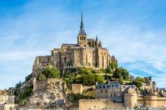 Visión en Mont Saint-Michele Fotografía de archivo libre de regalías