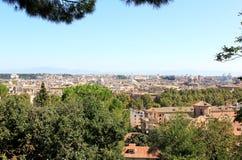 Visión en Roma del Passeggiata di Gianicolo, Lazio Imagenes de archivo