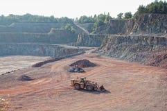 Visión en una mina de la mina de la roca del pórfido Imagenes de archivo