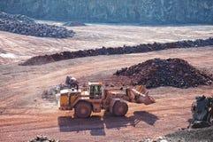 Visión en una mina de la mina de la roca del pórfido Fotografía de archivo libre de regalías