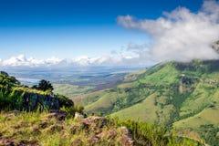 Visión escénica desde The Edge sobre el valle y Amathola Mounta de Tyhume Foto de archivo