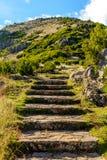Visión escénica desde las escaleras al cielo en la isla de Madeira, Portugal Fotos de archivo libres de regalías