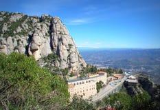 Visión escénica desde Montserrat Mountain, España Imagen de archivo libre de regalías