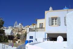 Visión escénica desde Pyrgos, Santorini Imágenes de archivo libres de regalías