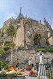 Visión escénica en Mont Saint Michel, Normandía, Francia Fotografía de archivo libre de regalías