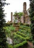 Visión escénica en Mont Saint Michel, Normandía, Francia Foto de archivo