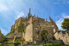 Visión escénica en Mont Saint Michel, Normandía, Francia Imagenes de archivo