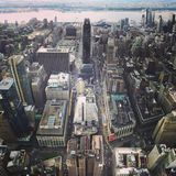 Visión escénica sobre New York City Imágenes de archivo libres de regalías
