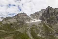 Visión espectacular para montar el macizo de Blanc a partir del observati de 360 grados Imagenes de archivo
