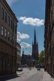 Visión estrecha la ciudad vieja Foto de archivo libre de regalías