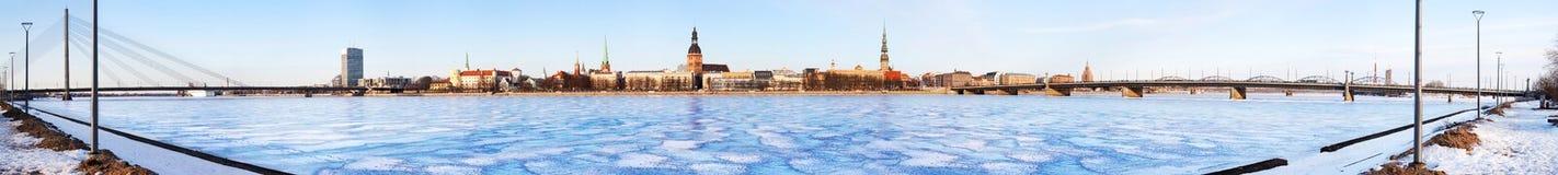 Panorama de Riga Foto de archivo libre de regalías