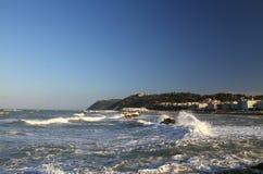 Visión Gabicce Mare y mar Imágenes de archivo libres de regalías
