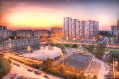 Visión general urbana Foto de archivo