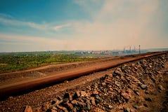 Visión general y paisaje industrial Fotos de archivo libres de regalías