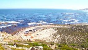 Visión hacia Ciudad del Cabo de la punta del cabo, Afri del sur almacen de metraje de vídeo