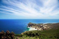 Visión hacia Ciudad del Cabo de la punta del cabo, Afri del sur Fotografía de archivo