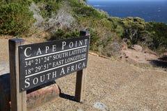 Visión hacia Ciudad del Cabo de la punta del cabo, Afri del sur Fotografía de archivo libre de regalías