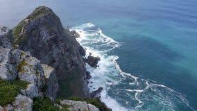 Visión hacia Ciudad del Cabo de la punta del cabo, Afri del sur Imagen de archivo