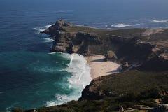Visión hacia Ciudad del Cabo de la punta del cabo, Afri del sur Foto de archivo libre de regalías