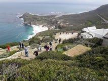Visión hacia Ciudad del Cabo de la punta del cabo, Afri del sur Imagen de archivo libre de regalías
