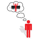 Visión, ideas y pensamiento Foto de archivo libre de regalías