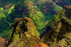 Visión imponente en el barranco de Waimea, Kauai, Hawaii Foto de archivo libre de regalías