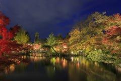 Visión magnífica, color de la caída en Eikando Zenrinji, Japón en el otoño Imagen de archivo