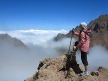 Visión magnífica desde el top de la montaña Foto de archivo libre de regalías