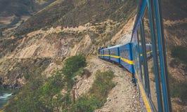 Visión maravillosa desde Peru Titicaca Train de Cusco a Puno, Perú imagenes de archivo