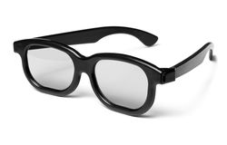 visión moderna del cine de los vidrios 3D Fotografía de archivo