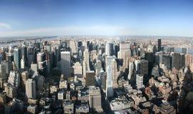 Visión panorámica aérea sobre hombre foto de archivo