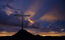 Visión panorámica cruzada santa Imagen de archivo